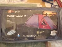 Higear Whirlwind2 two-person tent in claret and grey