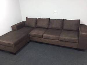 Brown L Shape With Reversable Chaise - Delivery Available Eastwood Ryde Area Preview