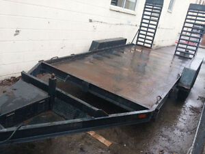 14' landscape / equipment trailer with ramps from JJ trailers