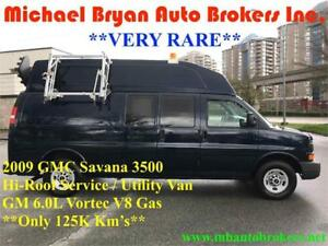 2009 GMC SAVANA 3500 HI-ROOF SERVICE VAN / UTILITY VAN *RARE*