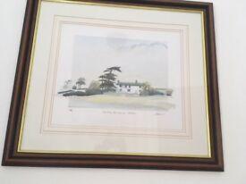 framed print by geoffrey cowton early morning mist winter crag