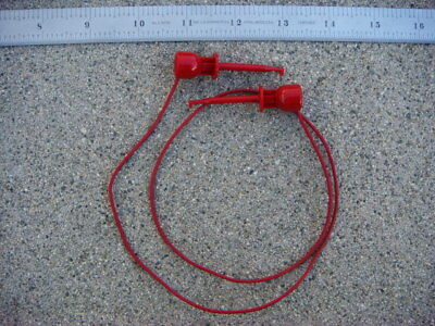 Lot Of Ten 10 24 Red Ez-hook Test Leads 204-24w Red - New And Unused