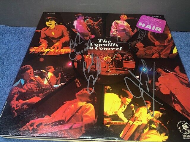 The Cowsills Band Signed Autographed In Concert Album LP - $27.99