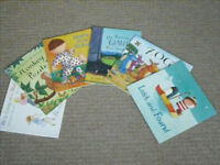 Assorted books/toys and wellies