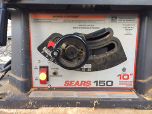 Sears 10 Inch table saw with stand