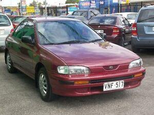 1993 Subaru Impreza GX Red 4 Speed Automatic Sedan Nailsworth Prospect Area Preview