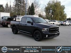 "2016 DODGE RAM 1500 QUAD CAB 4X4 3.6L V6 20"" WHEELS 50KM"