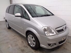 VAUXHALL MERIVA MPV , 2006 , ONLY 58000 MILES + FULL HISTORY, YEARS MOT, FINANCE AVAILABLE, WARRANTY