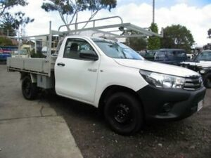 2018 Toyota Hilux TGN16R MY19 Workmate White Cab Chassis Roselands Canterbury Area Preview