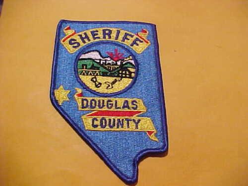 DOUGLAS COUNTY NEVADA POLICE PATCH SHOULDER SIZE UNUSED
