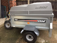 Erde 122 trailer with ABS top and extras