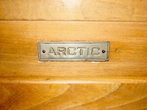 Antique Farmhouse Kitchen Arctic Ice Box Solid Ash Wood Original Kitchener / Waterloo Kitchener Area image 8