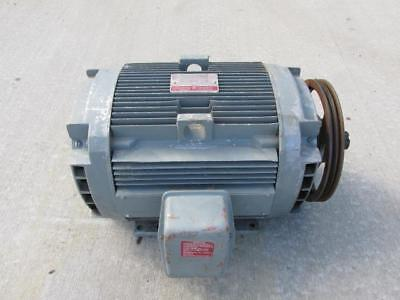 General Electric Tri-clad 5kl254al211 Motor 20 Hp 200 Volts 1750 Rpm 3 Phase Ph