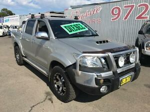 2011 Toyota Hilux KUN26R MY11 Upgrade SR5 (4x4) Silver 4 Speed Automatic Dual Cab Pick-up Lansvale Liverpool Area Preview