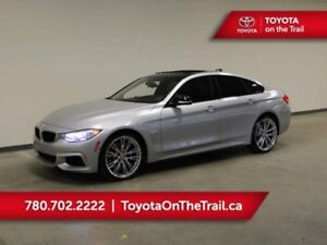 2016 BMW 4 Series 435Xi SEDAN; SUNROOF, BROWN LEATHER, FRONT/REA