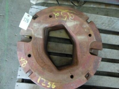 International Harvester Tractor Whole Circle Wheel Weight 125 Lb. Tag 126