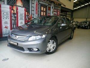 2012 Honda Civic 9th Gen Hybrid Grey 1 Speed Constant Variable Sedan Hybrid