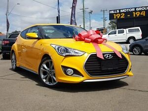 2015 Hyundai Veloster FS4 Series II SR Coupe Turbo + Yellow 6 Speed Manual Hatchback Kings Park Blacktown Area Preview