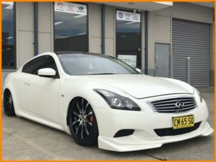2008 Infiniti G37 V36 370GT White 5 Speed Automatic Coupe