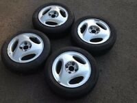 "RONAL 14"" 5.5J 4x100 Classic, alloy wheels, nice original wheels with good tyres, not borbet bbs TM"