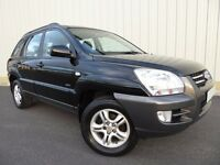 Kia Sportage XI, 5 Door, 4x4 in Black, Excellent Low Mileage Family Station Wagon, with Half Leather