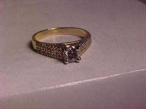 #1071-14k y/w/gold ENGAGEMENT RING 1/2 CARAT PLUS---APPRAISED $3,250.00-SELL $795.00 LAYAWAY AVAILABLE