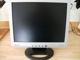 """15"""" lcd computer monitor in good condition with mains & vga leads, can be seen working."""