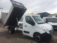 RENAULT MASTER 2.3 ML35 DCI L/R TIPPER DRW 1d 125 BHP 1 owner Ful (white) 2014