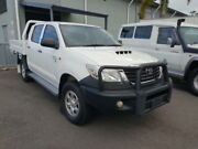 2013 Toyota Hilux KUN26R MY12 SR Double Cab Glacier White 5 Speed Manual Cab Chassis Atherton Tablelands Preview