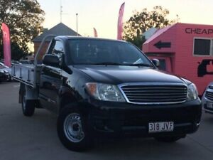 2006 Toyota Hilux TGN16R MY05 Workmate 4x2 Black 5 Speed Manual Cab Chassis South Toowoomba Toowoomba City Preview