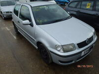 VW Polo O/S Front Wing In Silver Breaking For Parts
