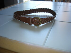 Light brown/tan belt size 2-3X