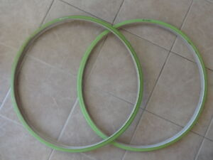 Duro fixie single speed road tires. Lime green. Brand New