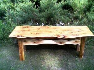 RUSTIC/LIVE EDGE COFFEE TABLE