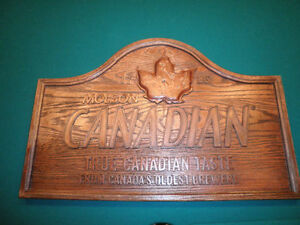 Molson Canadian Beer Sign