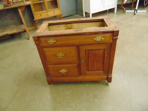 WALNUT WASHSTAND BASE COULD BE A VANITY
