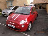 Red 1.2 Fiat 500 2008