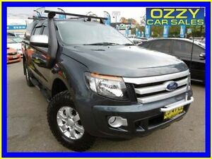 2013 Ford Ranger PX XLS 3.2 (4x4) Grey 6 Speed Manual Dual Cab Utility Penrith Penrith Area Preview