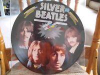 RARE - SILVER BEATLES (picture disc) VINYL RECORD