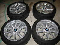 """BMW OEM 17"""" alloy rims and tires"""