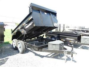 5 ton 6x10 dump trailer with ramps