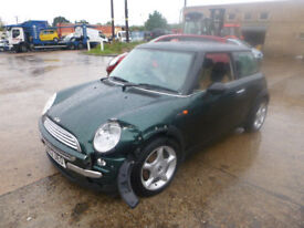 MINI COOPER 1.6 - GU02UEO - DIRECT FROM INS CO