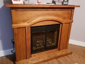 Large Mantle Electric Fireplace with Remote Start
