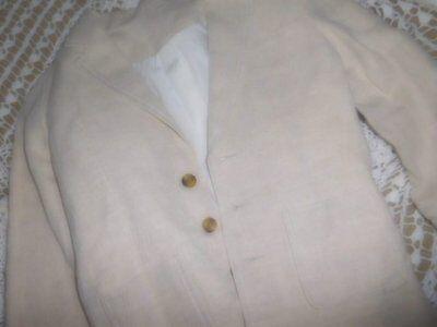 Linen Suit Boys (euc Talbots Kids beige linen blend suit jacket blazer boy 7 free ship)