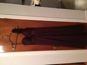 ROBE prune/PLUM GOWN (great for Prom and weddings)