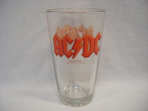AC/DC Pint Glass 2010 Leidsplein Beer Angus Young Bon Scott Malcom Young G2