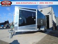 LOWEST PRICE THIS YEAR 2016 AMERALITE 7 X 19 SNOWMOBILE TRAILER