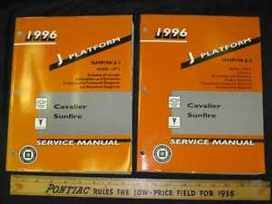 1996-Pontiac-Sunfire-Chev-Cavalier-2-Vol-Set-Shop-Manual