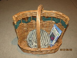 Wicker Garden tool Carrier (or use it to carry wine)