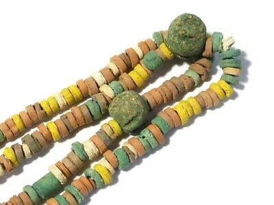 Ancient Egyptian Multi Coloured Faience Beads Necklace Restrung #CME5